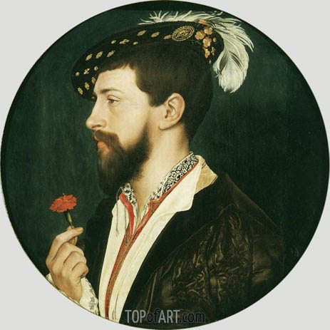 Portrait of Simon George, c.1536/37 | Hans Holbein | Painting Reproduction