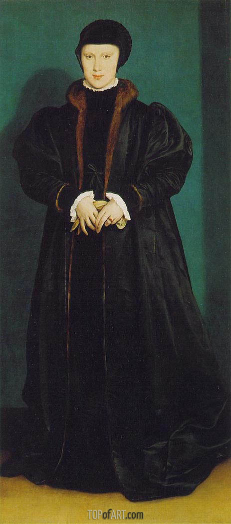 Hans Holbein | Portrait of Christina of Denmark, c.1538