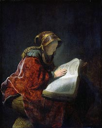 The Prophetess Anna (known as Rembrandt's Mother), 1631 by Rembrandt | Painting Reproduction