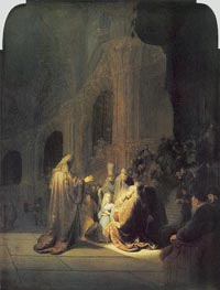 Simeon in Temple, 1631 by Rembrandt | Painting Reproduction