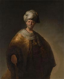 Man in Oriental Costume (The Noble Slav), 1632 by Rembrandt | Painting Reproduction