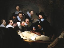 The Anatomy Lecture of Dr. Nicolaes Tulp, 1632 by Rembrandt | Painting Reproduction