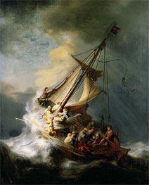 Sturm auf dem Meer von Galiläa, 1633 von Rembrandt | Gemälde-Reproduktion