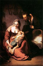 The Holy Family, c.1630 by Rembrandt | Painting Reproduction