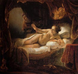 Danae, 1636 by Rembrandt | Painting Reproduction