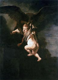 Rape of Ganymede, 1635 by Rembrandt | Painting Reproduction