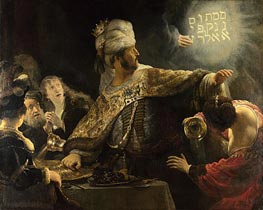 Belshazzar's Feast, c.1635/38 by Rembrandt | Painting Reproduction