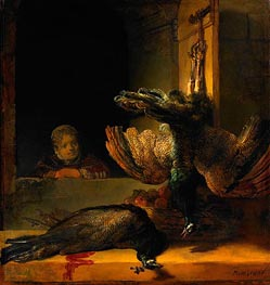 Dead Peacocks, c.1639 by Rembrandt | Painting Reproduction