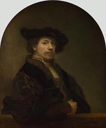 Self Portrait at the Age of 34, 1640 by Rembrandt | Painting Reproduction