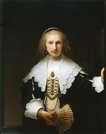 Portrait of Agatha Bas, 1641 by Rembrandt | Painting Reproduction
