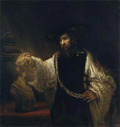 Aristotle with a Bust of Homer, 1653 by Rembrandt | Painting Reproduction