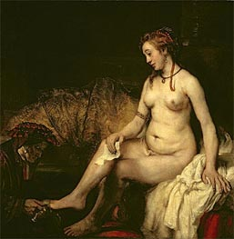 Bathsheba at Her Bath, 1654 by Rembrandt | Painting Reproduction