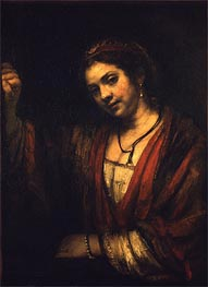 Hendrickje Stoffels in the Window | Rembrandt | outdated