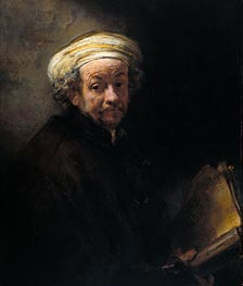 Self Portrait as Apostle Paul | Rembrandt | Gemälde Reproduktion