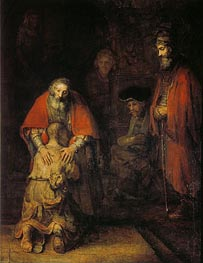 The Return of the Prodigal Son | Rembrandt | Gemälde Reproduktion