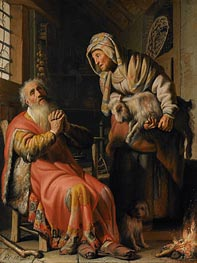Tobit and Anna with a Kid | Rembrandt | Gemälde Reproduktion