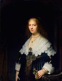 Portrait of Maria Trip | Rembrandt | Gemälde Reproduktion