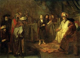 The Twelve Year Old Jesus in Front of the Scribes | Rembrandt | Gemälde Reproduktion