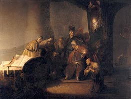 Repentant Judas Returning The Pieces Of Silver | Rembrandt | Gemälde Reproduktion