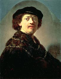 Self-Portrait in a Black Cap | Rembrandt | veraltet