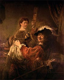 Self Portrait with Saskia in the Parable of the Prodigal Son | Rembrandt | Gemälde Reproduktion