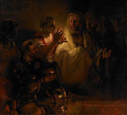 The Denial of St. Peter | Rembrandt | Gemälde Reproduktion