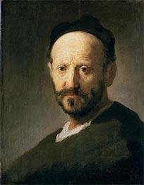 Head of a Man   Rembrandt   Gemälde Reproduktion