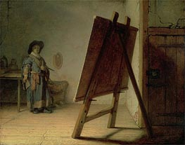 Artist in his Studio | Rembrandt | Gemälde Reproduktion