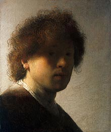 Self Portrait as a Young Man | Rembrandt | Gemälde Reproduktion
