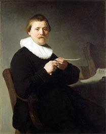 Man Sharpening a Quill | Rembrandt | Gemälde Reproduktion