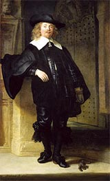 Full Length Portrait of a Standing Man | Rembrandt | Gemälde Reproduktion