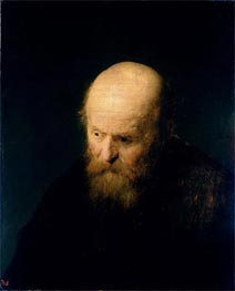 Head of a Bald, Old Man | Rembrandt | Gemälde Reproduktion