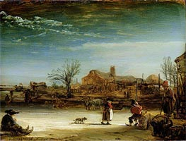 Winter Landscape | Rembrandt | Gemälde Reproduktion