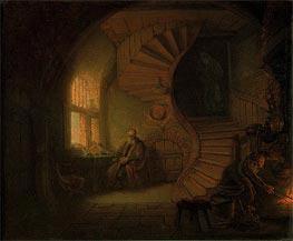 Philosopher in Meditation | Rembrandt | Gemälde Reproduktion