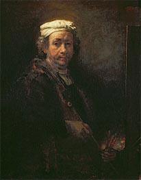 Self Portrait at his Easel | Rembrandt | veraltet