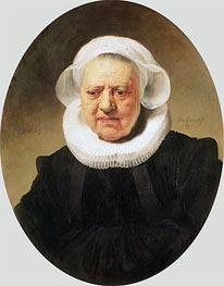 Portrait of Aechje Claesdar | Rembrandt | Gemälde Reproduktion