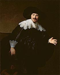Portrait of a Seated Man Rising from his Chair | Rembrandt | veraltet