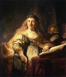 Saskia as Minerva | Rembrandt | Gemälde Reproduktion