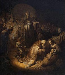 Adoration of the Magi | Rembrandt | Gemälde Reproduktion