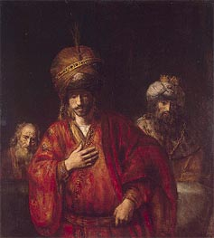 Haman Recognizes His Fate | Rembrandt | Gemälde Reproduktion