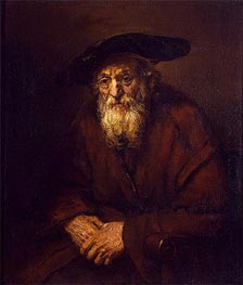 Portrait of an Old Jew, 1654 by Rembrandt | Painting Reproduction