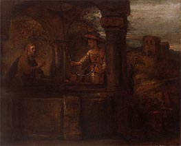 Christ and the Woman of Samaria, 1659 by Rembrandt | Painting Reproduction