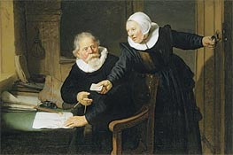 Portrait of Jan Rijcksen and his Wife, Griet Jans (The Shipbuilder and his Wife) | Rembrandt | Gemälde Reproduktion