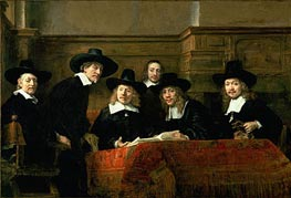 The Syndics (De Staalmeesters), 1662 by Rembrandt | Painting Reproduction