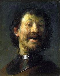 Smiling Man | Rembrandt | Gemälde Reproduktion