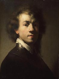 Portrait of Rembrandt at around Age of 23 | Rembrandt | Gemälde Reproduktion