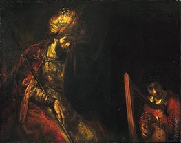 Saul and David, c.1650/55  by Rembrandt | Painting Reproduction