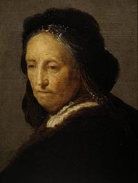 Study of an Old Woman (Rembrandt's Mother) | Rembrandt | Gemälde Reproduktion