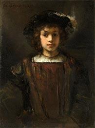 Rembrandt's Son Titus | Rembrandt | Gemälde Reproduktion