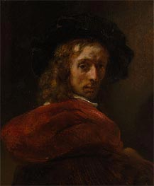 Man in a Red Cloak, Undated by Rembrandt | Painting Reproduction